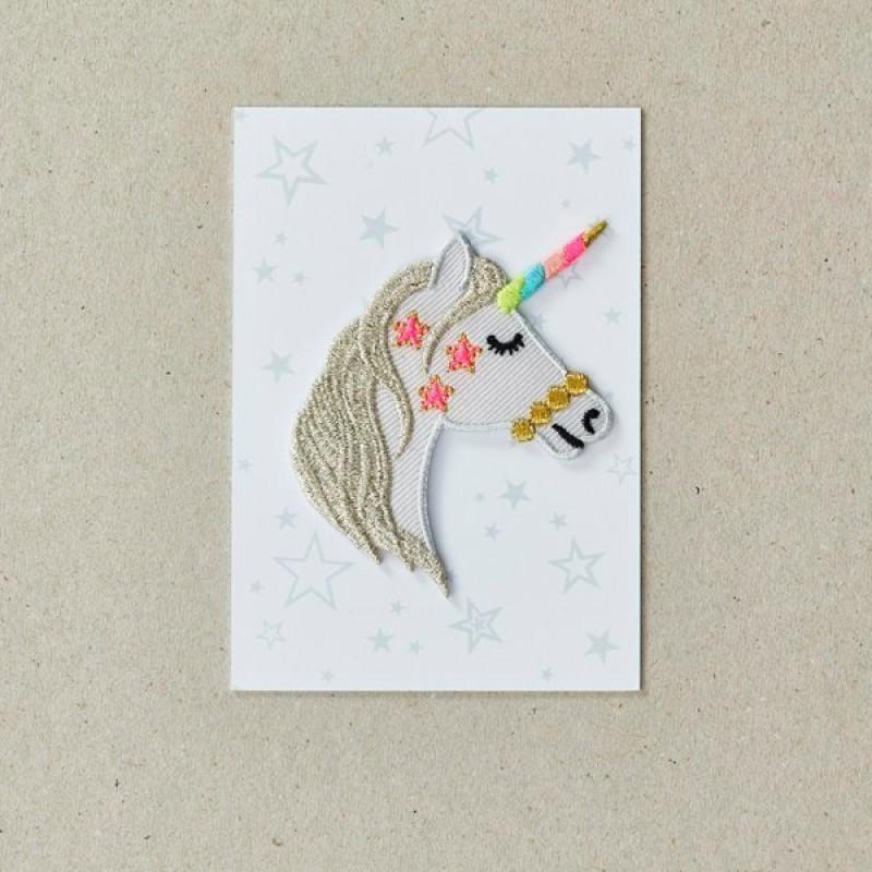 Unicorn Iron on Patch By Petra Boase