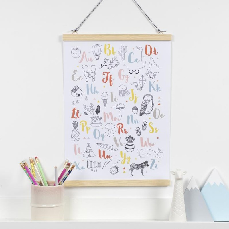 Illustrated Alphabet Print by Dainty Forest
