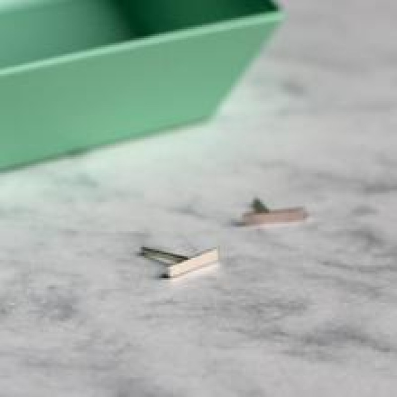 Small Bar Studs - Sterling Silver by Mela Jewellery