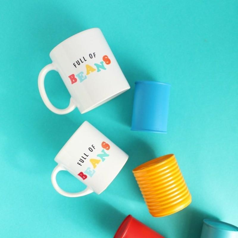 Full of Beans MINI breakfast mug - 7oz by HahOnline