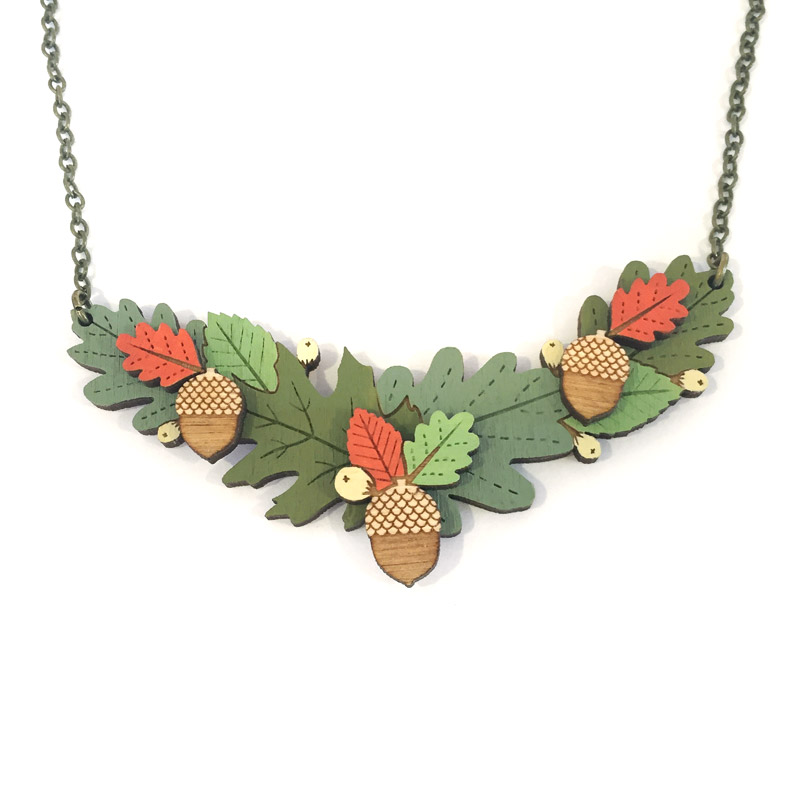 Autumn Leaves Necklace by Layla Amber