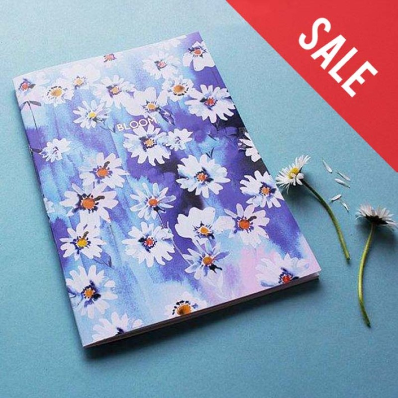 SALE Daisy Chain 'Bloom' (Rose gold foiled) A5 Notebook with lined pages by Nikki Strange