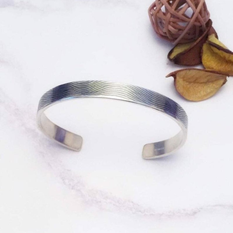 Unisex Cuff Bangle Bracelet by Gina Kim Jewellery
