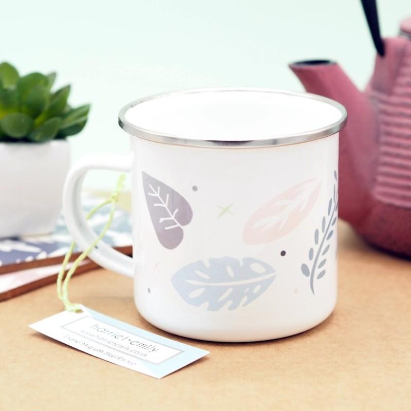 Jungle Pattern Enamel Mug by Harriet Emily
