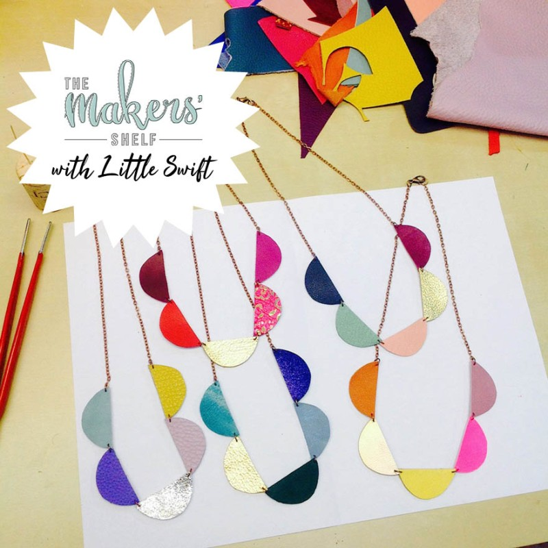 Saturday 19th October (Morning) - Scallop Bunting Leather Necklace - 2 Hour Workshop