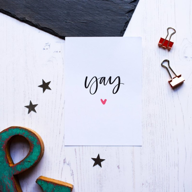 Yay card by AV Typography