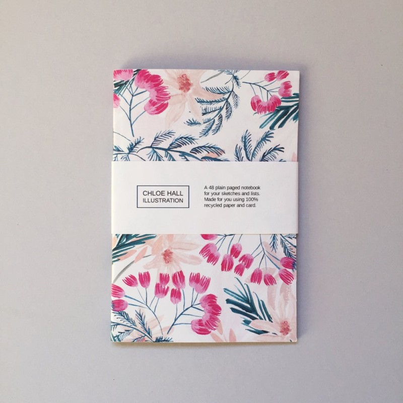 Paradise Tree A6 notebook (CHNB026) by Chloe Hall