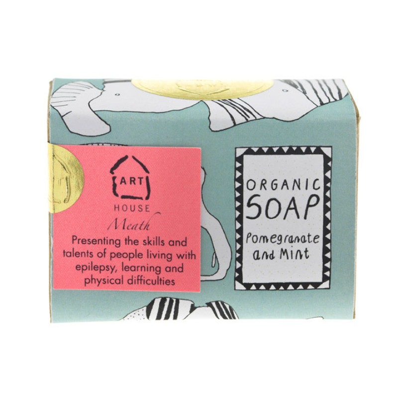 Pomegranate and Mint Organic Soap by Arthouse