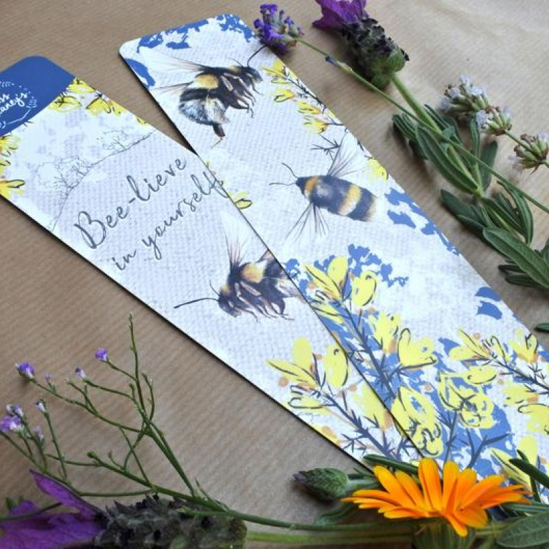 British Bumble Bee Bookmark By Miss Meaney's