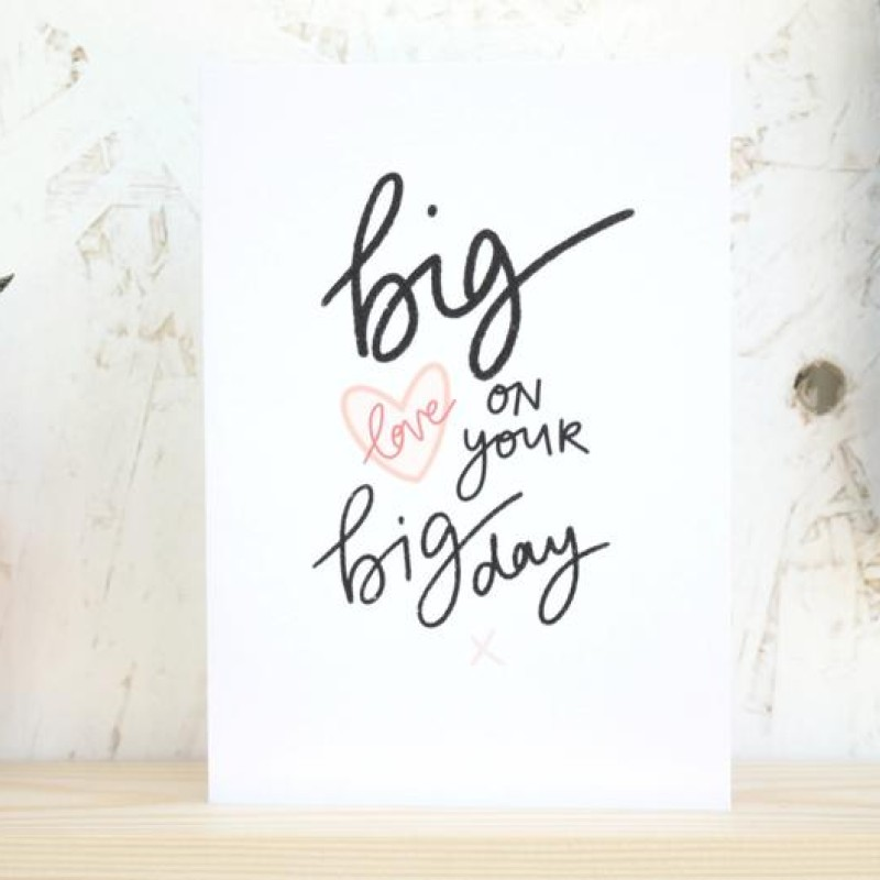 Big Love Wedding card by Daphne Rosa