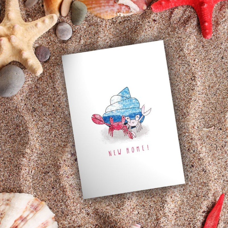 Hermit Crabs New Home Card by Snowtap