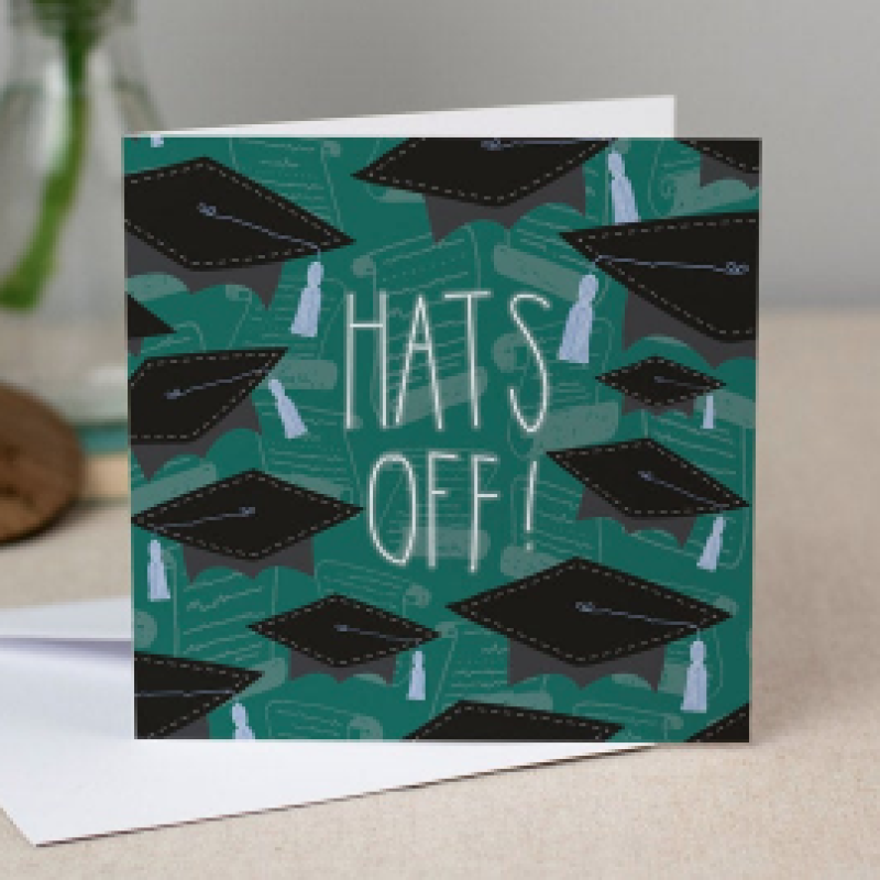 Hats Off! Graduation Card by Two For Joy