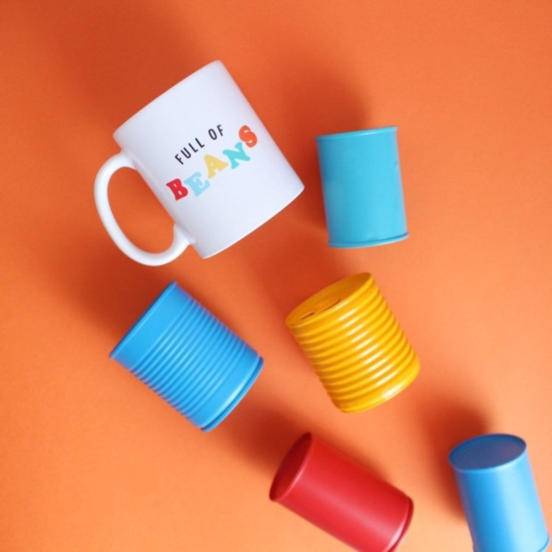 Full of Beans breakfast mug - 12oz by HahOnline