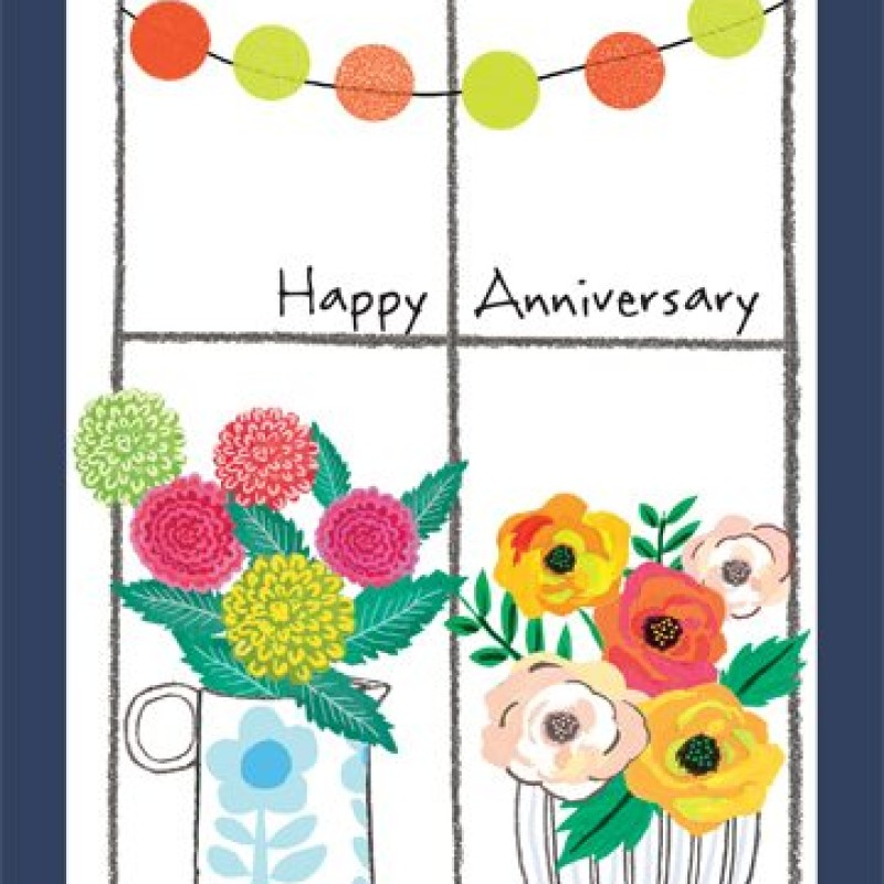 Happy Anniversary Card by Lou Mills (POP17)