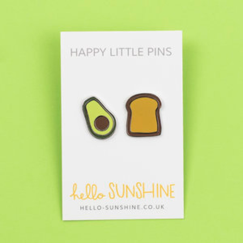 AVOCADO & TOAST ENAMEL PIN SET by Hello Sunshine