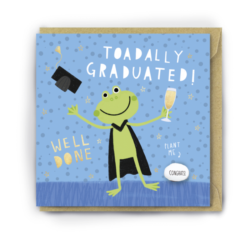 TOADALLY GRADUATED! Card by Lucy and Lolly