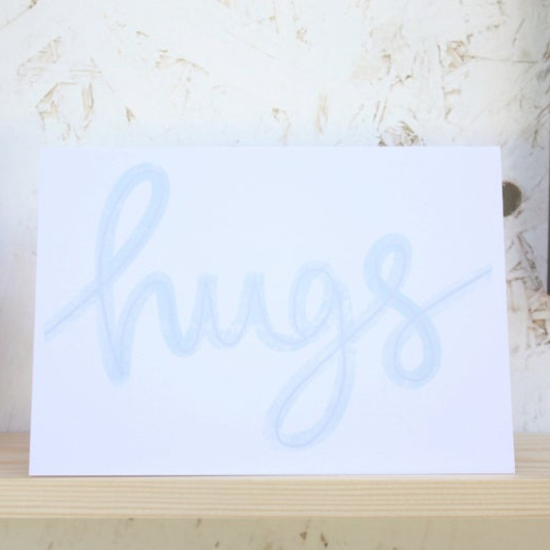 Hugs card by Daphne Rosa