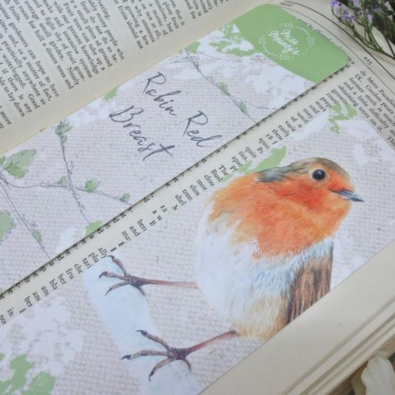 British Robin Bookmark by Miss Meaney's