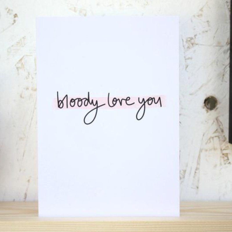 Bloody Love You card by Daphne Rosa