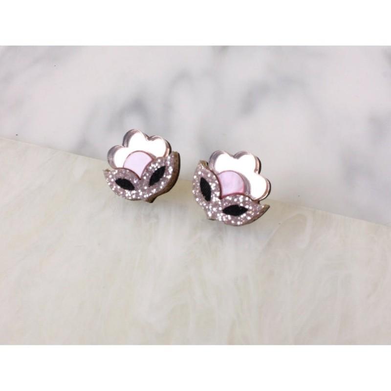 Flora Mini Stud Earrings (Rose Gold) by Rosa Pietsch