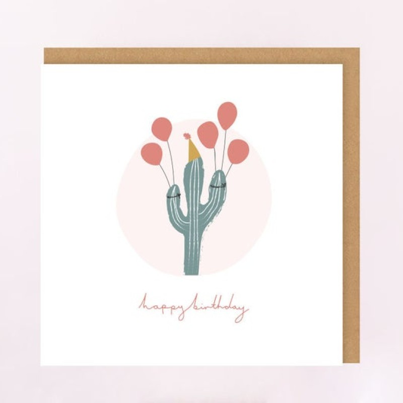 Cactus Birthday Card by Lottie Illustration
