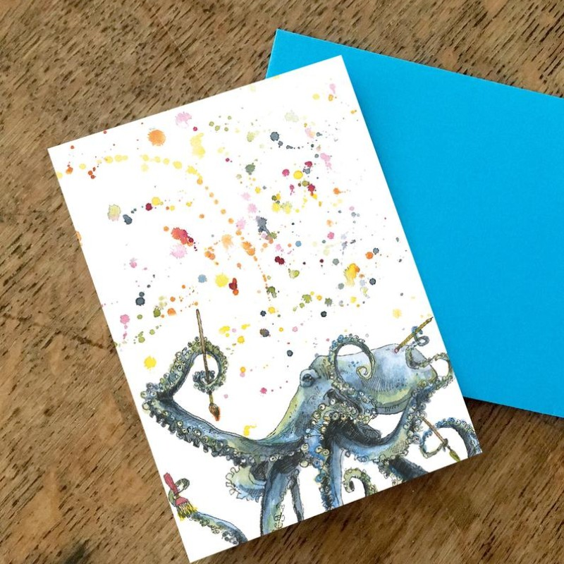 Arty Octopus Card by Snowtap