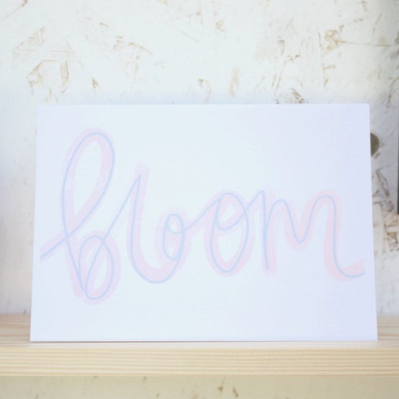 Bloom card by Daphne Rosa