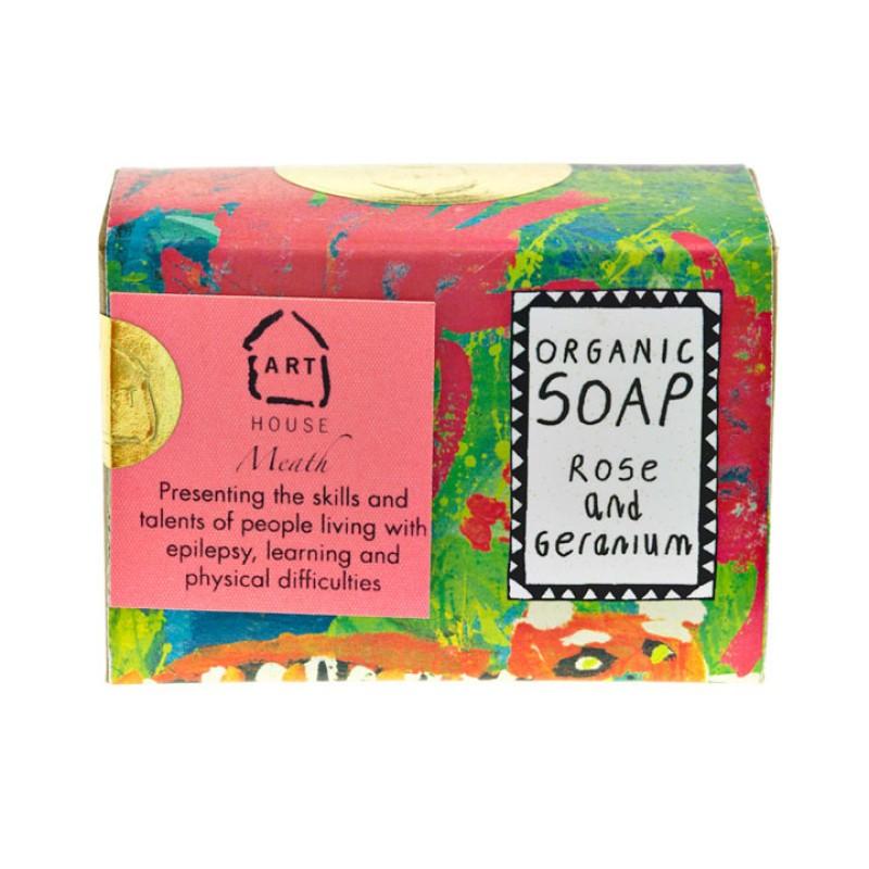 Rose & Geranium Organic Soap By Arthouse