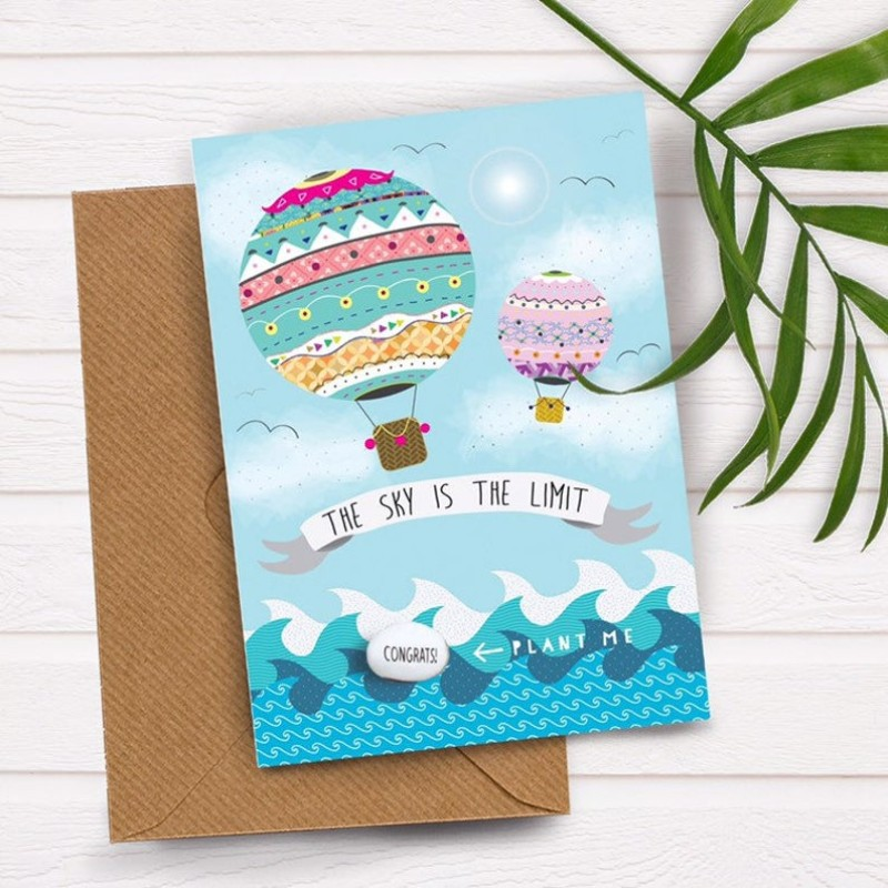THE SKY IS THE LIMIT Card by Lucy and Lolly