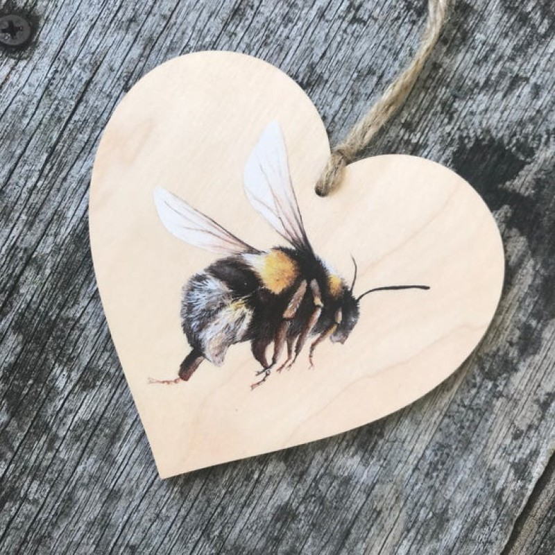 Bee Wooden Hanging Decoration By Miss Meaney's