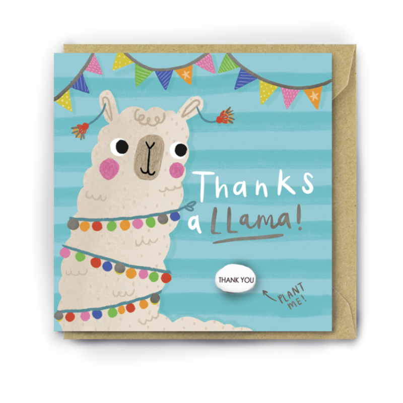 THANKS A LLAMA Card by Lucy and Lolly