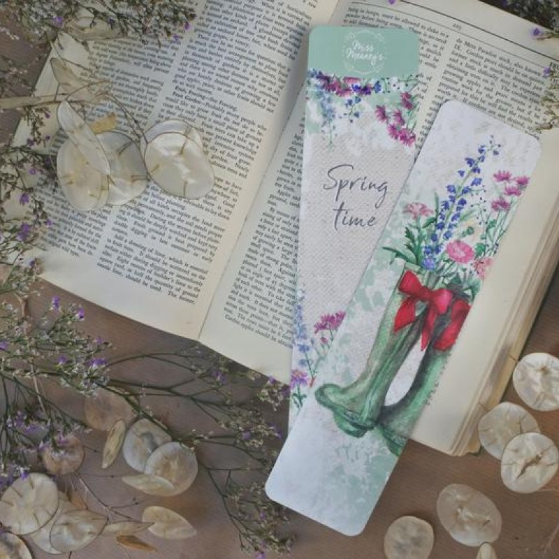 British Spring Wellies Bookmark By Miss Meaney's