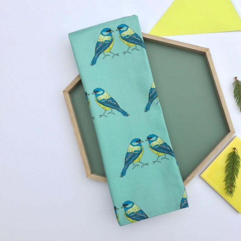 Blue Tits, Bird Tea Towel by OhHelloShan
