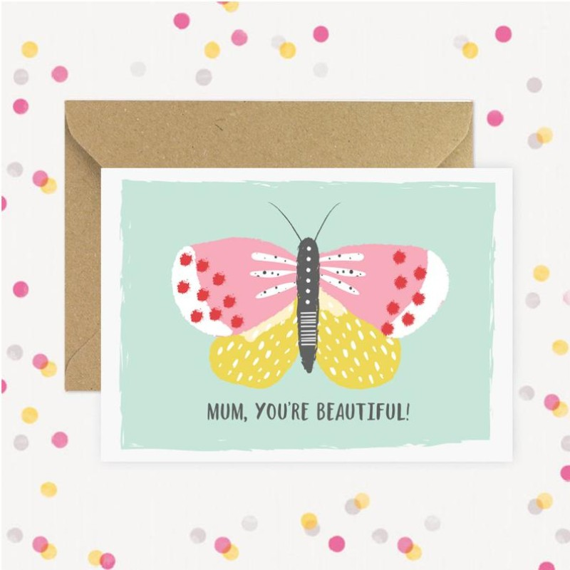 Mum you're beautiful A6 card by Dainty Forest