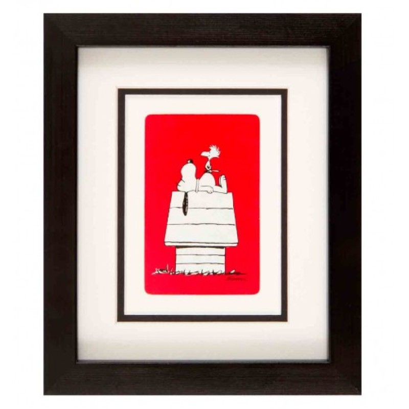 Snoopy at home (Red) by Vintage Playing Cards