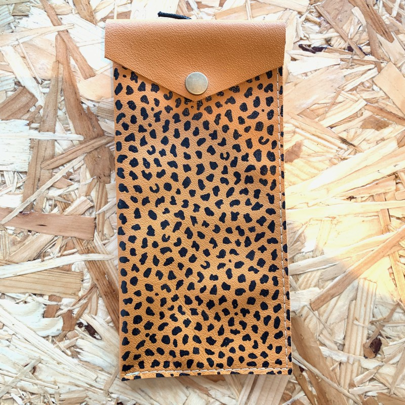 Leather Glasses Case (Leopard Print) by Leather Notions