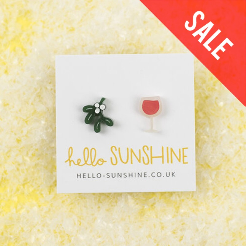 SALE Mistletoe and Wine earrings by Hello Sunshine