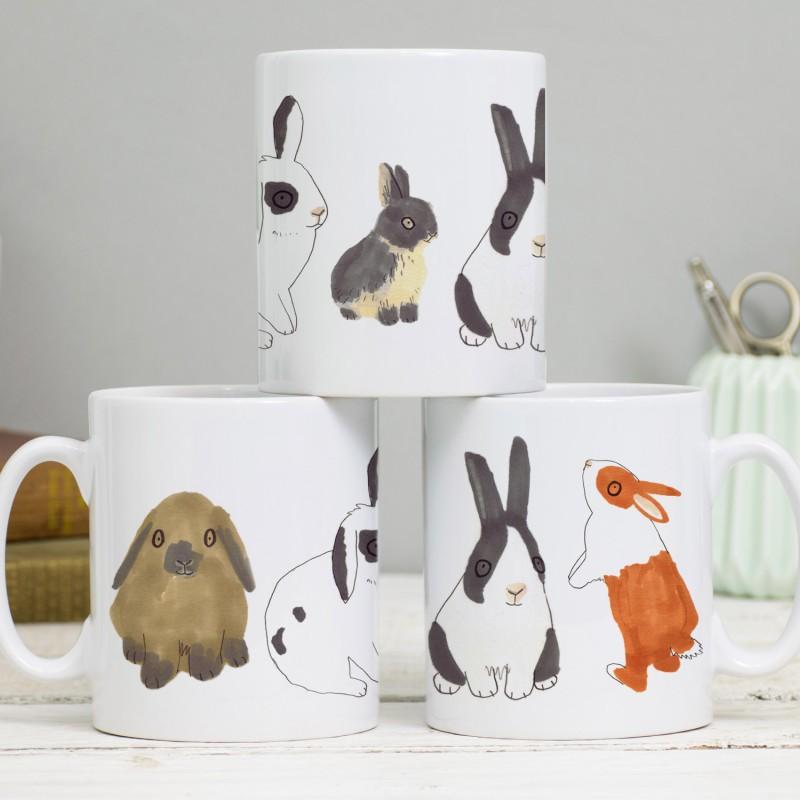 Bunnies Mug by Jo Clark