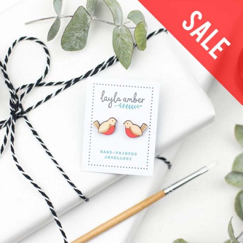 SALE Red Robin Earrings by Layla Amber