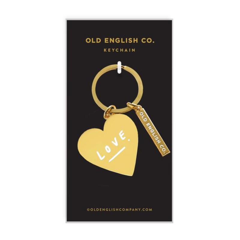 LOVE HEART KEYRING by Old English Co.
