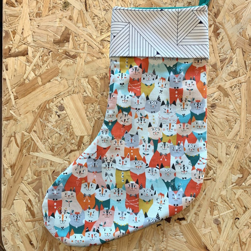 Cats Christmas Stocking by The Makers' Shelf