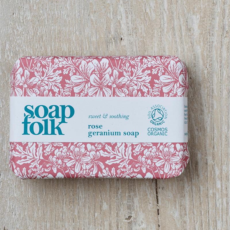Rose Geranium Soap by Soap Folk