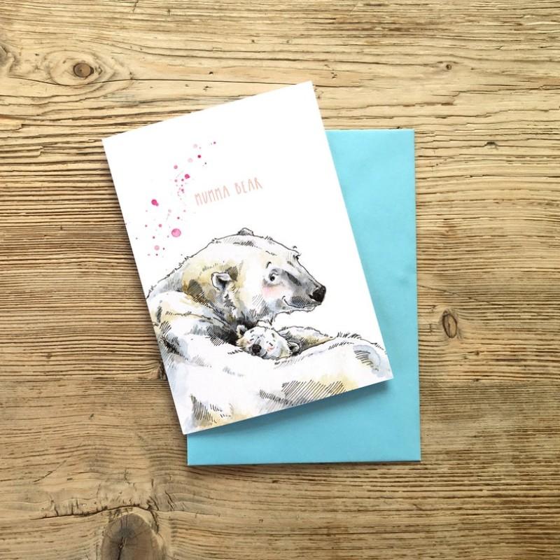 Polar Mumma Bear Card by Snowtap