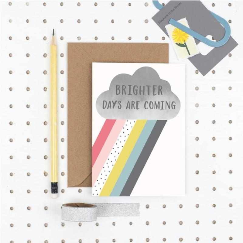 Brighter days are coming A6 card by Dainty Forest