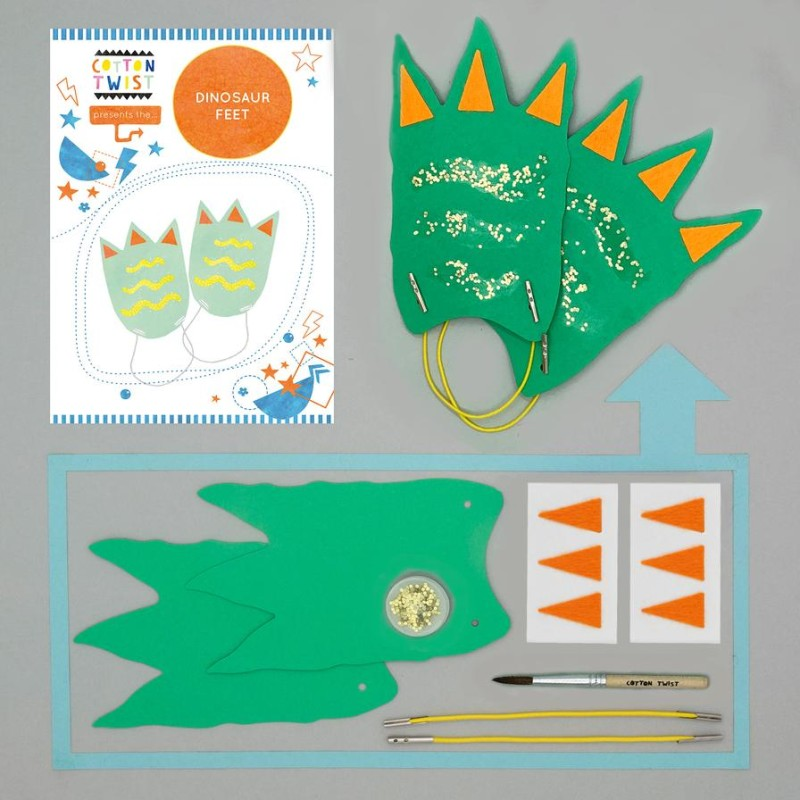 MAKE YOUR OWN DINOSAUR FEET by Cotton Twist