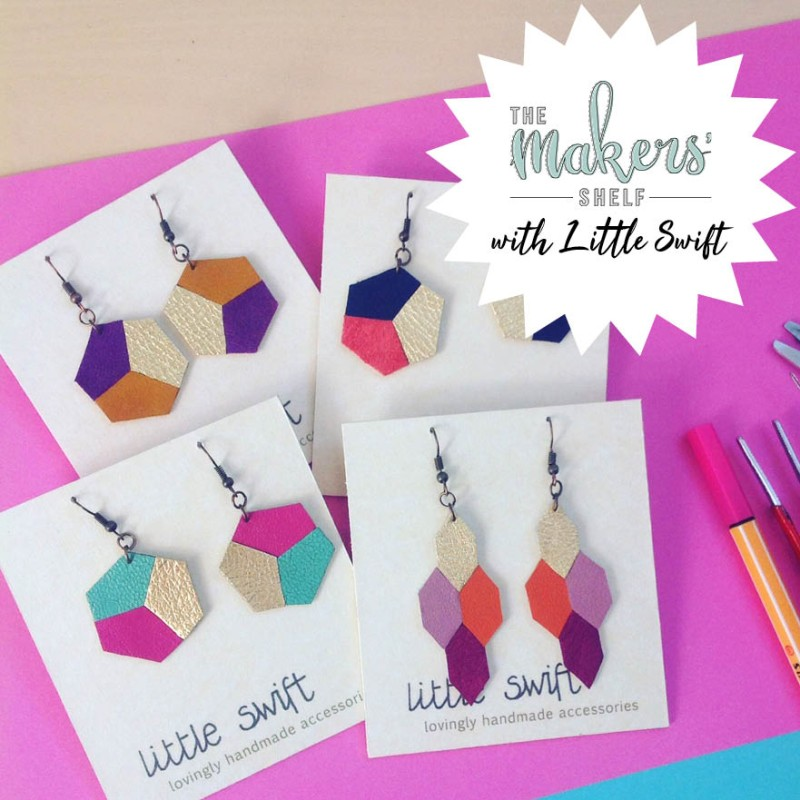 Saturday 19th October (Afternoon) - Geometric Leather Earrings - 2 Hour Workshop