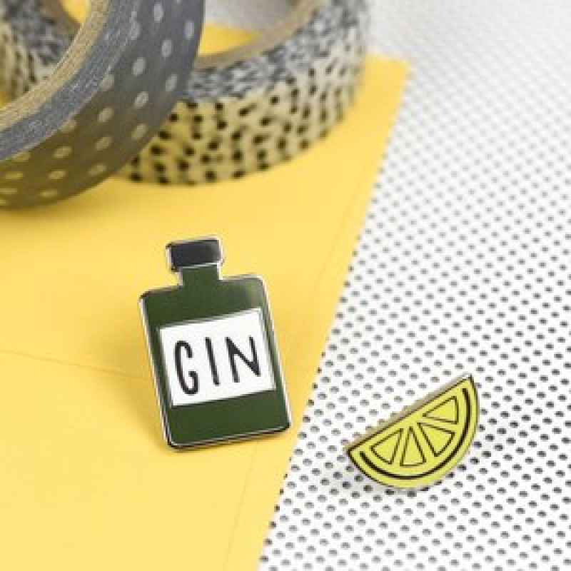 GIN & LEMON ENAMEL PIN SET by Hello Sunshine