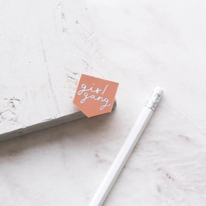 GIRL GANG ENAMEL PIN by Old English Co.