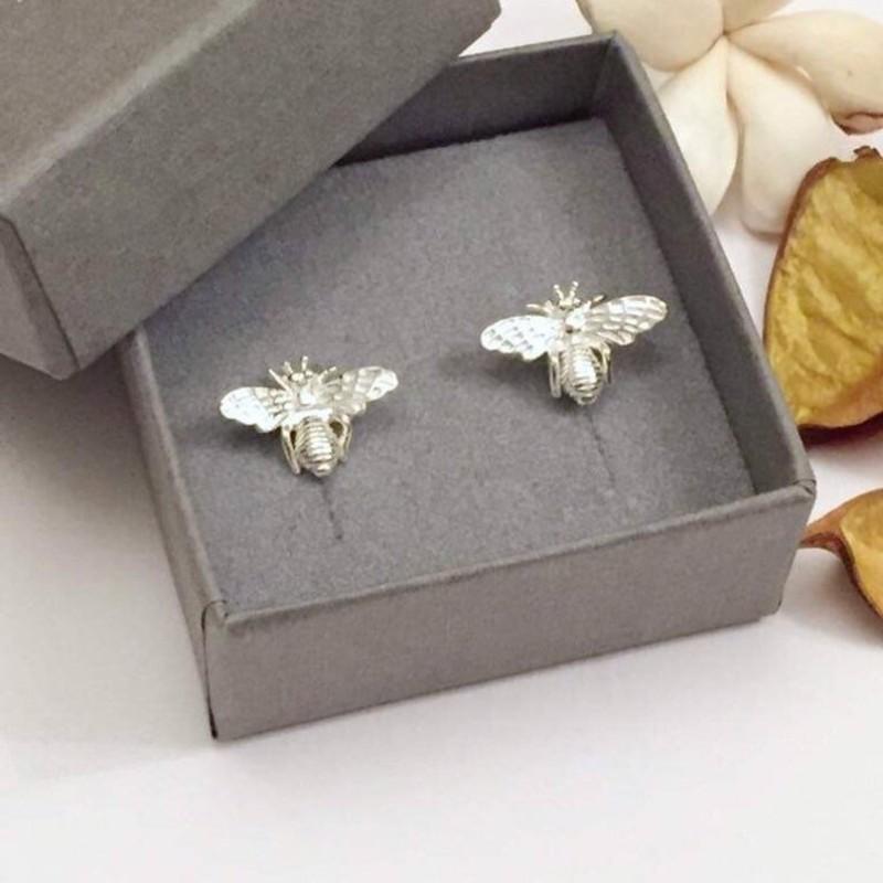 Honey Bee Silver Earrings by Gina Kim Jewellery