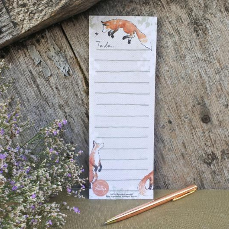 Magnetic Fox To-Do Notepad by Miss Meaney's